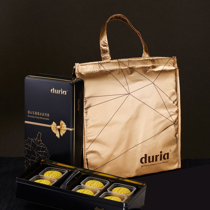 Duria Musang King Snowy Skin Mooncake and Cold Bag