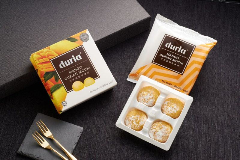 Mango Durian Mochi Box Opened